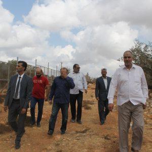 رئيس الجامعة رفقة أعضاء مجلس إدارة الجامعة يطلع على سير أعمال مشروع المدينة الجامعية